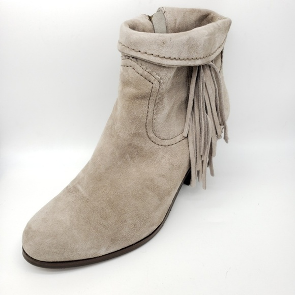 Sam Edelman Shoes - Sam Edelman Fringed Suede Booties